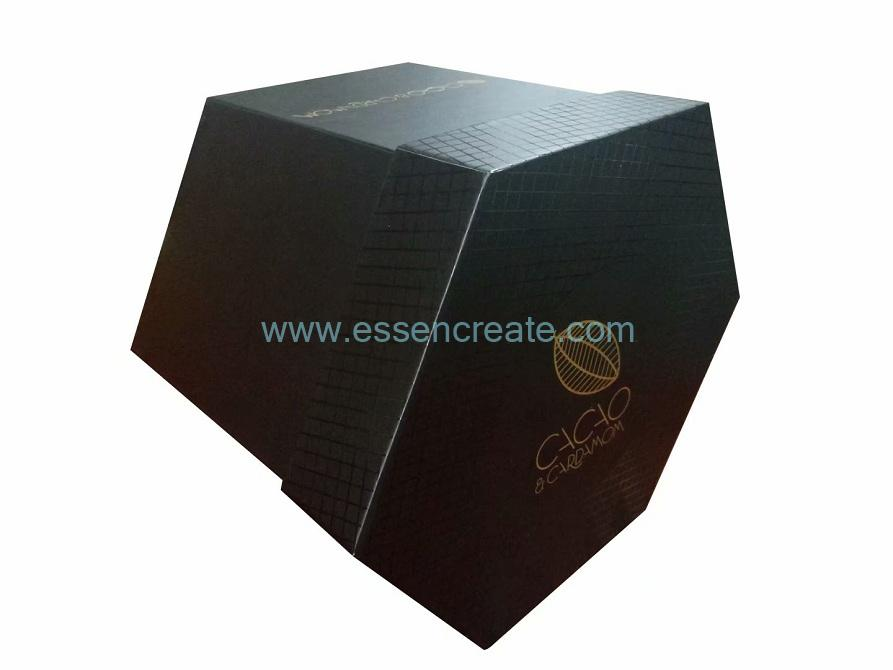 Four Tier Rotatable Hexagon Six Sides Chocolate Box