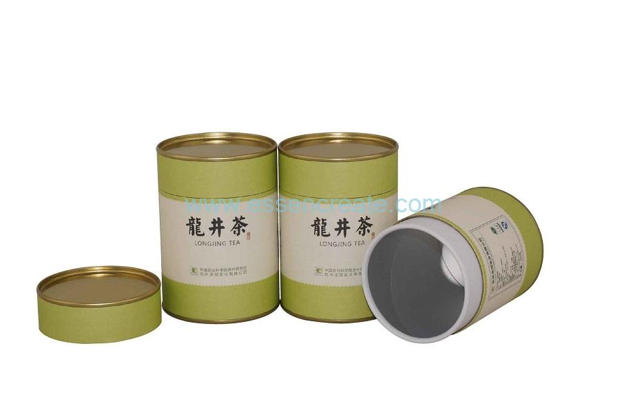 Tinplate Paper Lid Rolled Edge Tea Canister Packaging