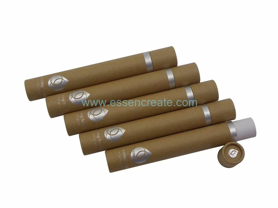 Rolled Edge Gift Packaging Round Kraft Paper Tube