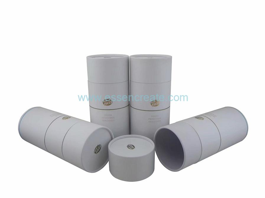 White Card Paper Gift Wine Bottle Packaging Canister