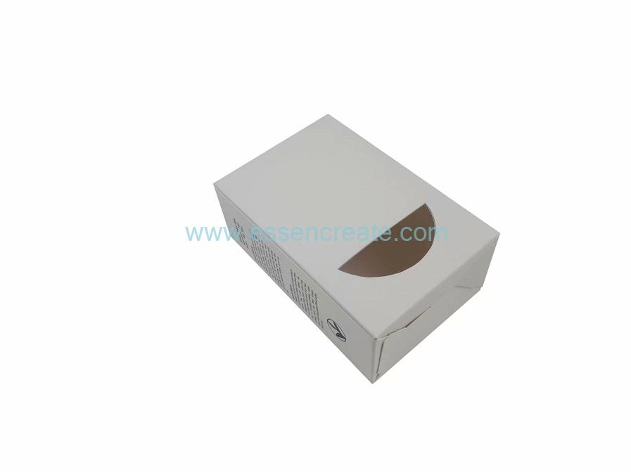 Foldable Auto-lock Bottom Tea Packaging White Card Box