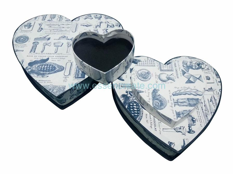 Heart Shaped Paper Gift Chocolate Candy Packaging Box