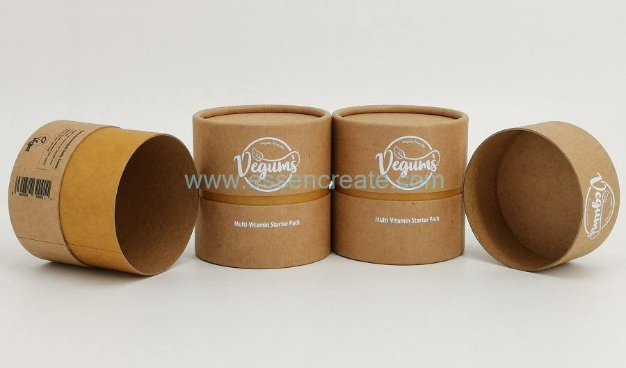 Kraft Paper Tube with Rolled Edge