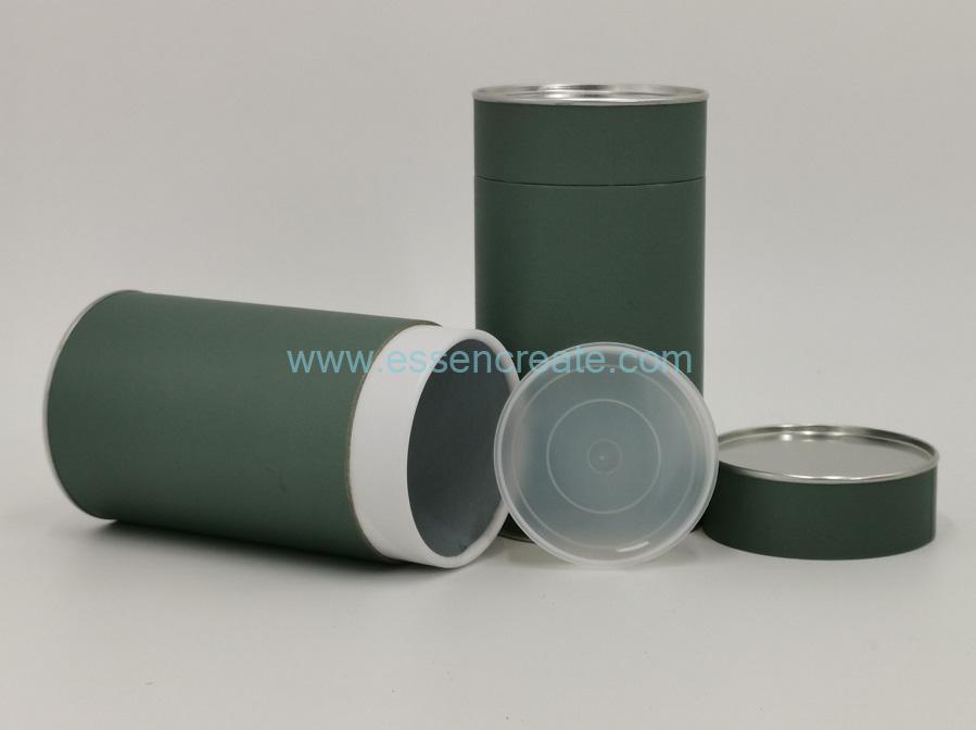 Cylinder Paper Box with Tin Lid