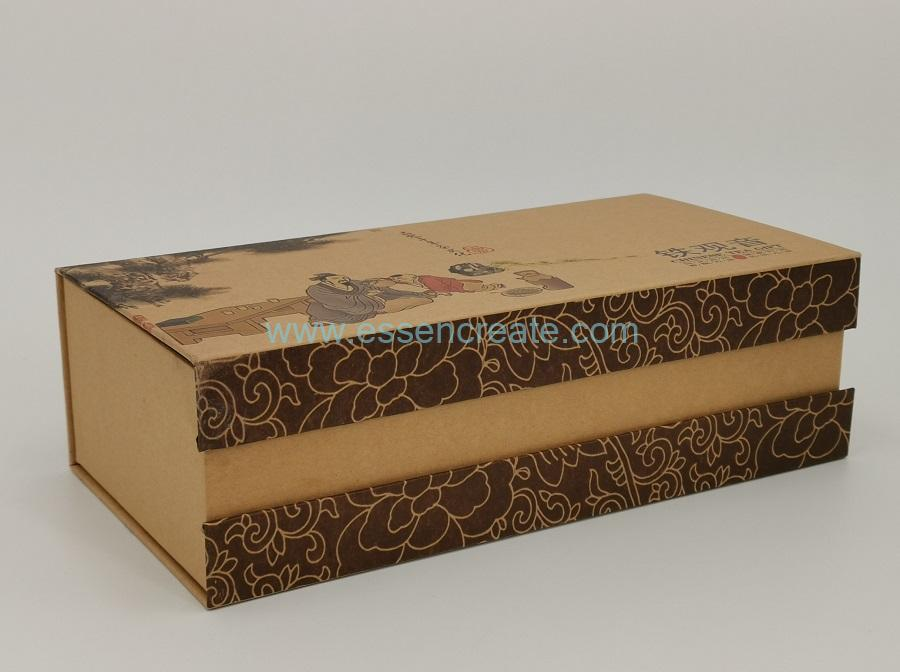 Brown Kraft Tea Gift Box with Paper Cans