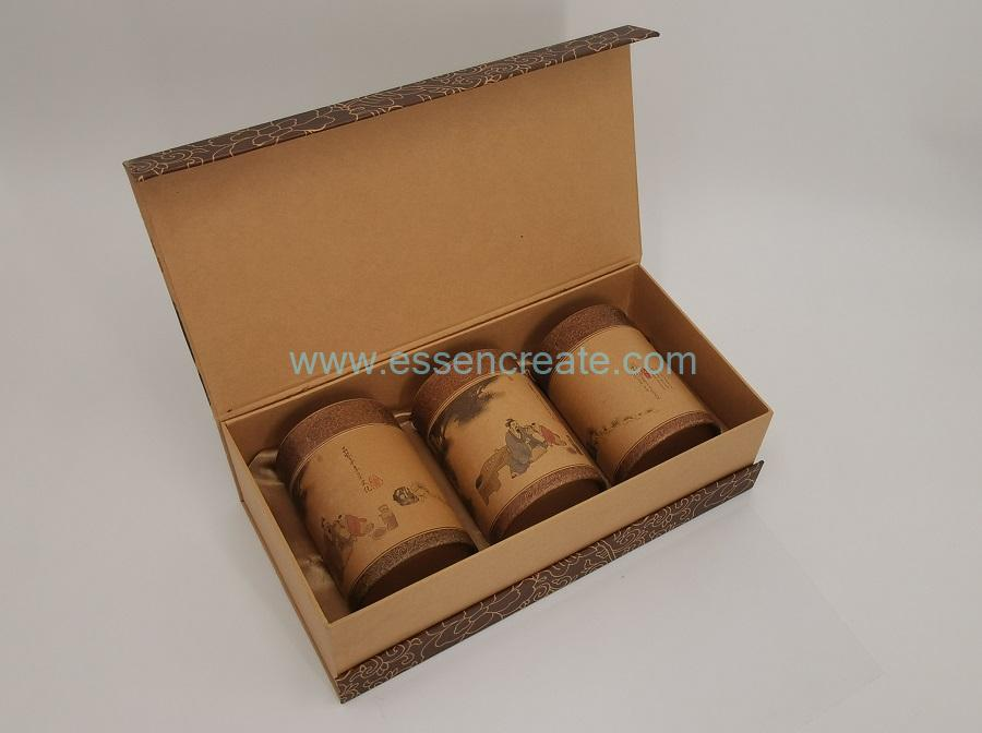Gift Box with Paper Cans