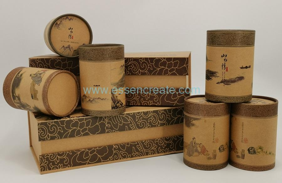 Tea Box with Cylinder Cans