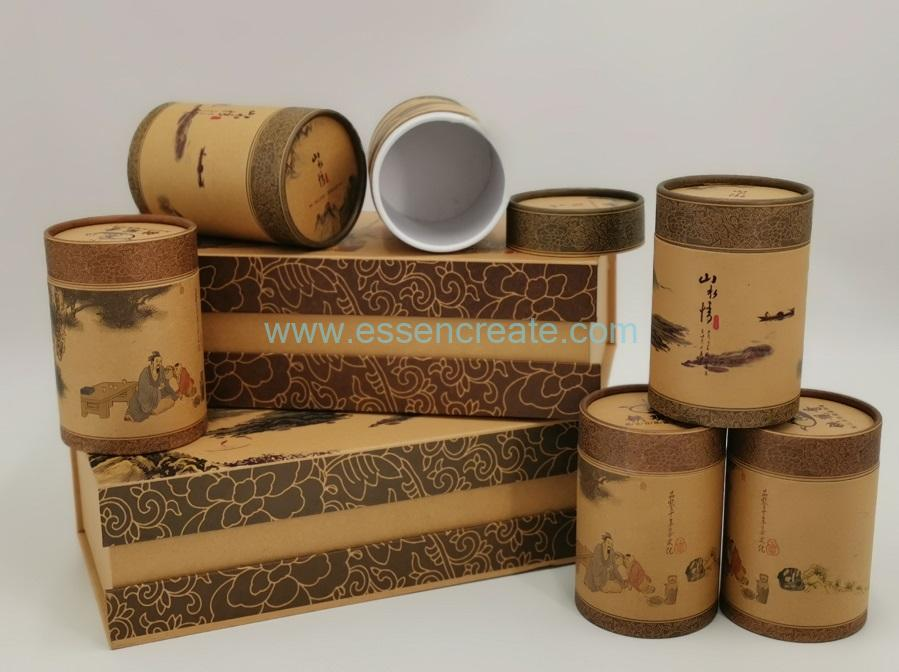 Rolled Edge Paper Cans Packing Box