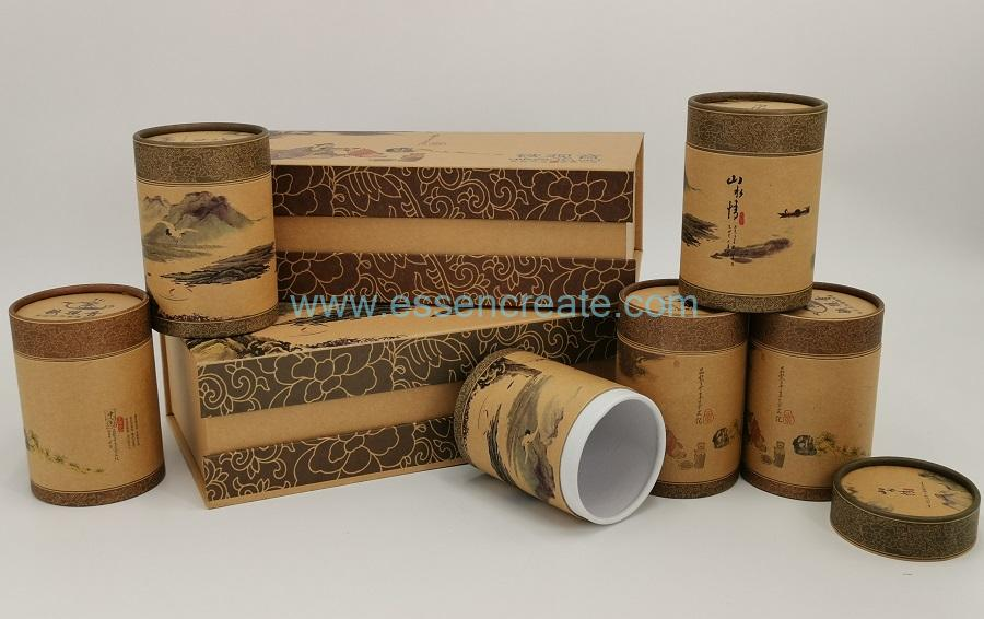 Cylinder Box Packing Paper Cardboard