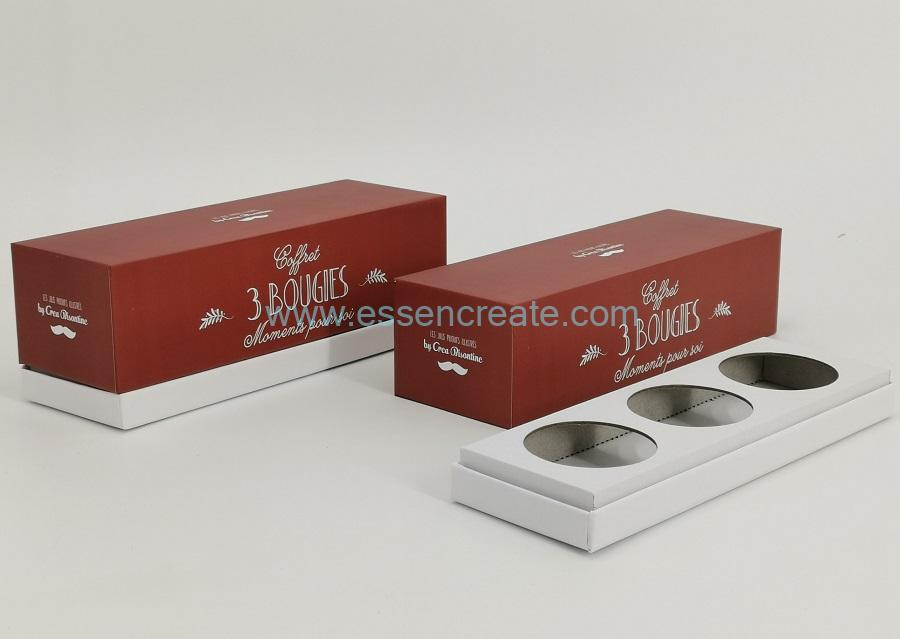 Lid and Base Candle Box for Bougie Packaging