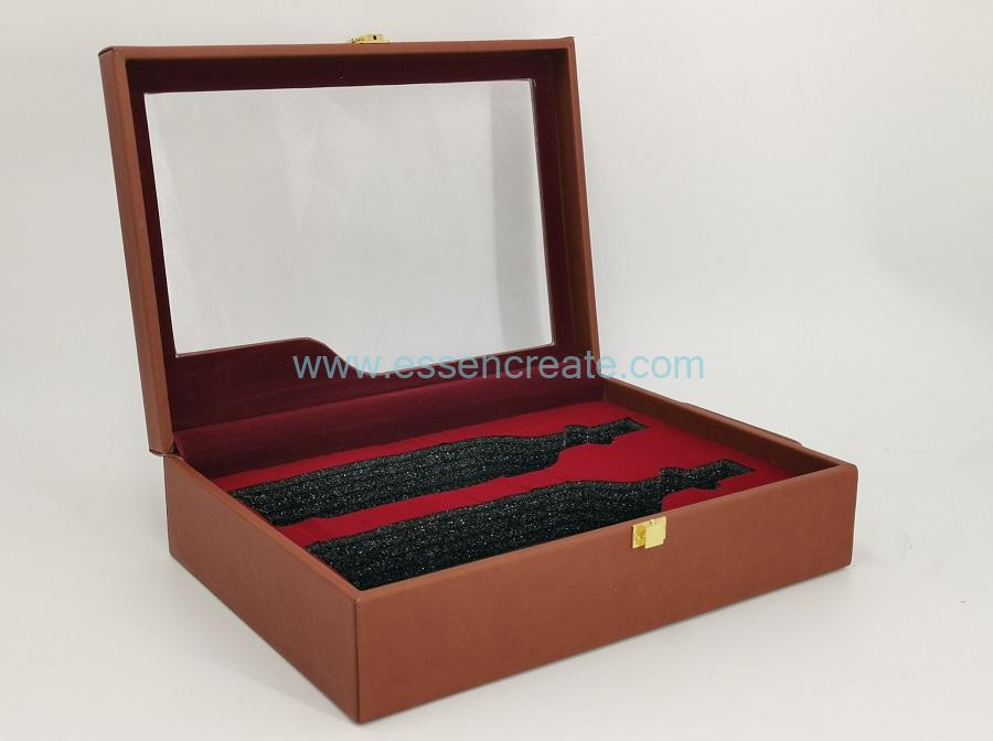 Two Wine Bottles Leather Box