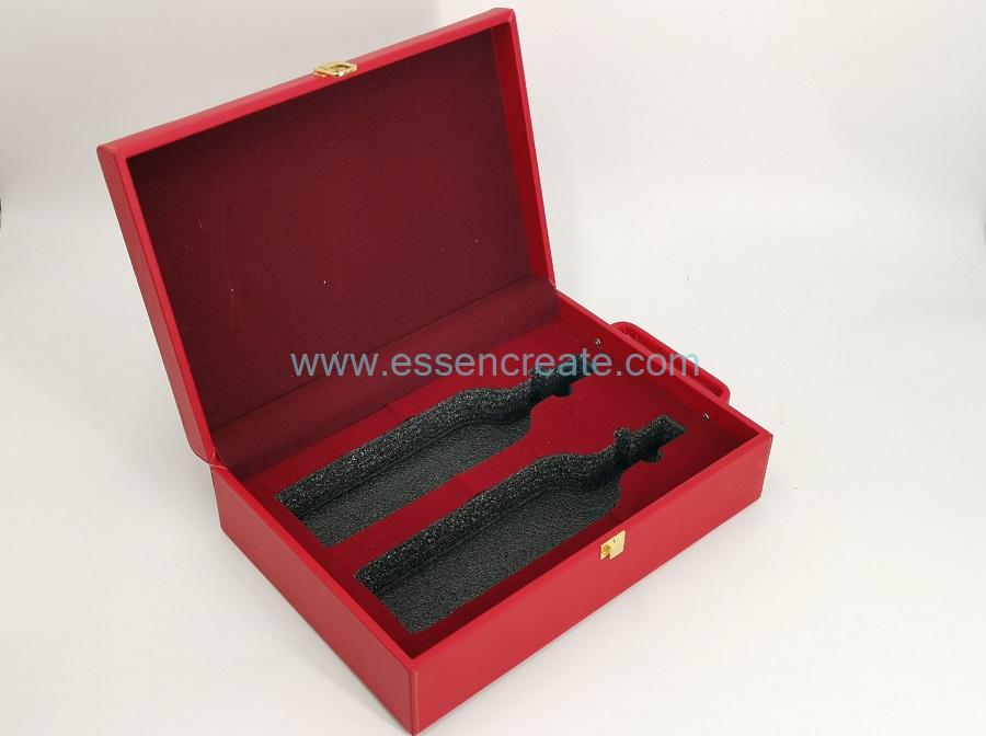 Faux Leather Wine Case Box