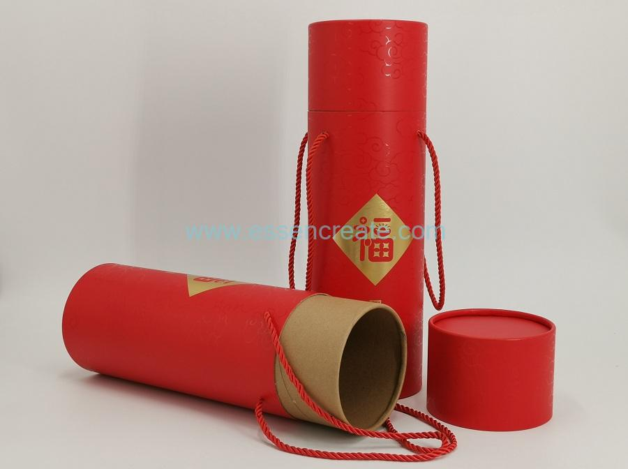 Paper Tube with UV Varnishing