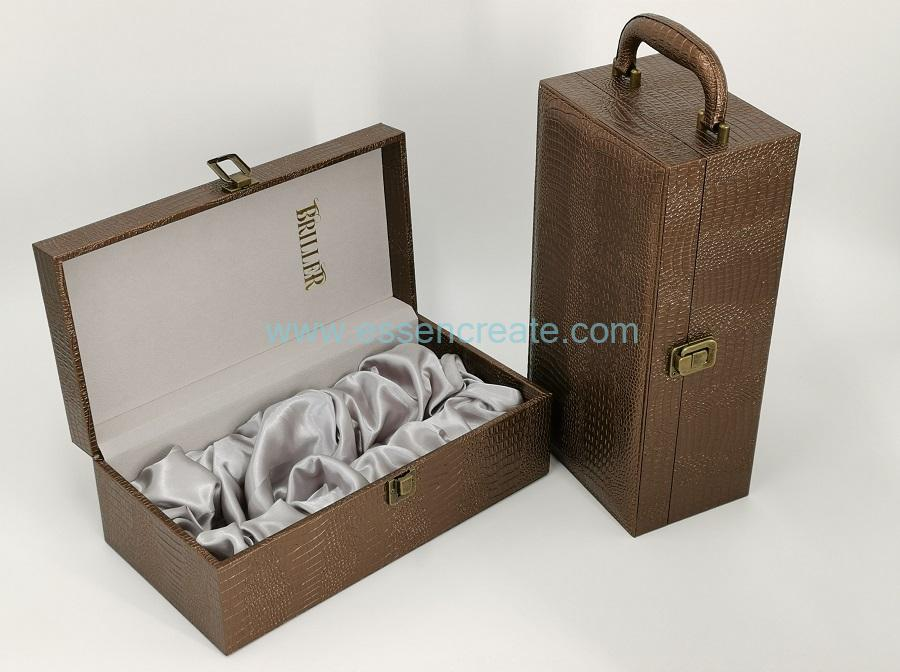 Single Wine Leather Holder Box