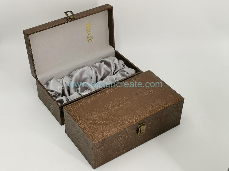Crocodile Wine Leather Case