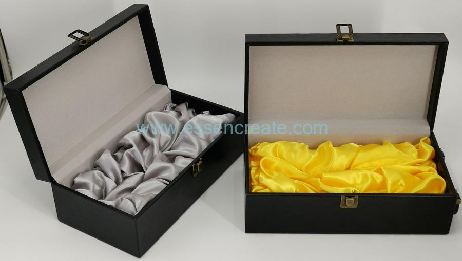 Luxury Black Wine Leather Box