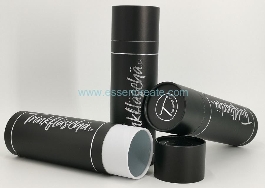 Black Tube with Silver Stamping