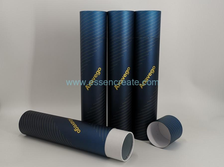 Round Cardboard Black Tube Packaging