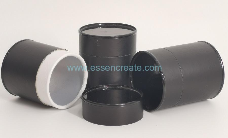 Rolled Edge Composite Black Cans