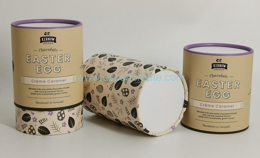 Two Pieces Chocolate Packaging Tube