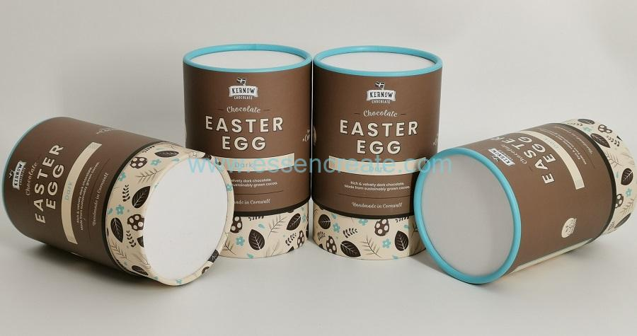 Dark Chocolate Packaging Round Easter Egg Gift Box