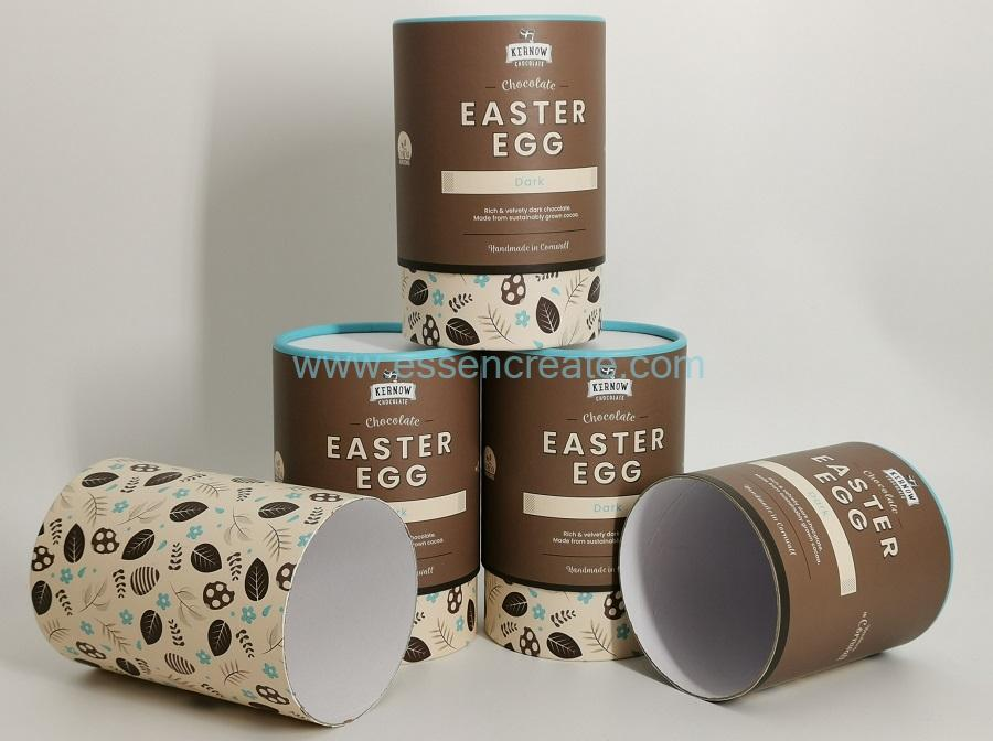 Round Rolled Edge Kraft Tube Box