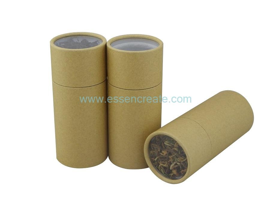 Kraft Paper Tube with Clear Window