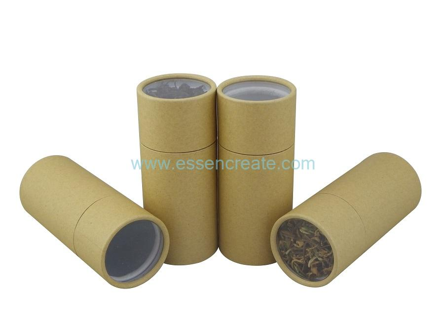 Paper Tube with Transparent Window