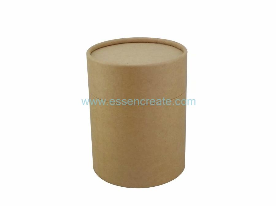 Custom Eco-friendly Brown Kraft Paper Tube Round Box