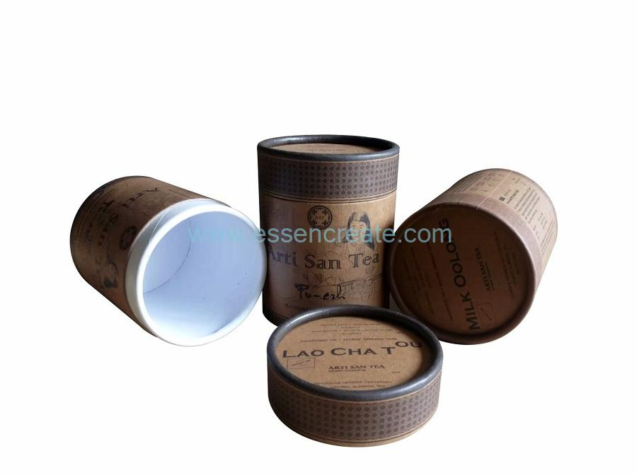Degradable Cylinder Oolong Tea Packaging Paper Tube Box