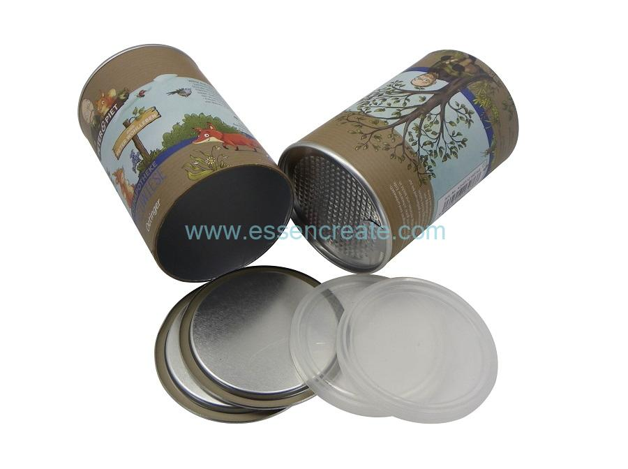 Paper Cans with Aluminum Foil Easy Peel Off Lid