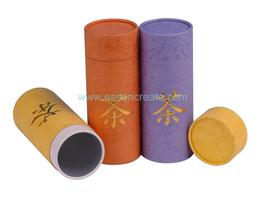 Custom Food Grade Chinese Tea Packaging Paper Tube