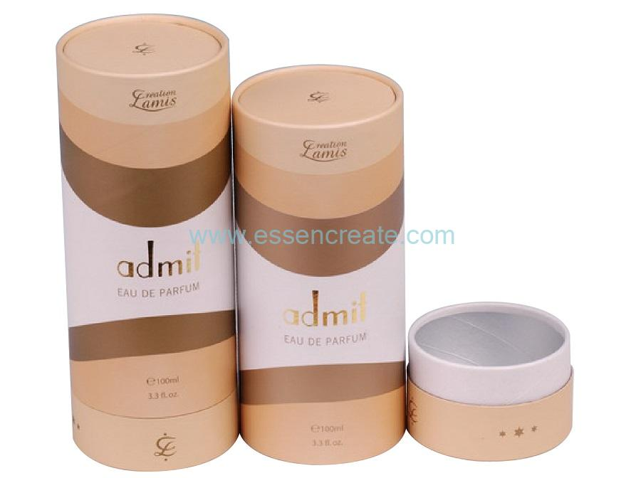 Luxury Perfume Packaging Suppliers Telescopic Rolled Edge Tubes