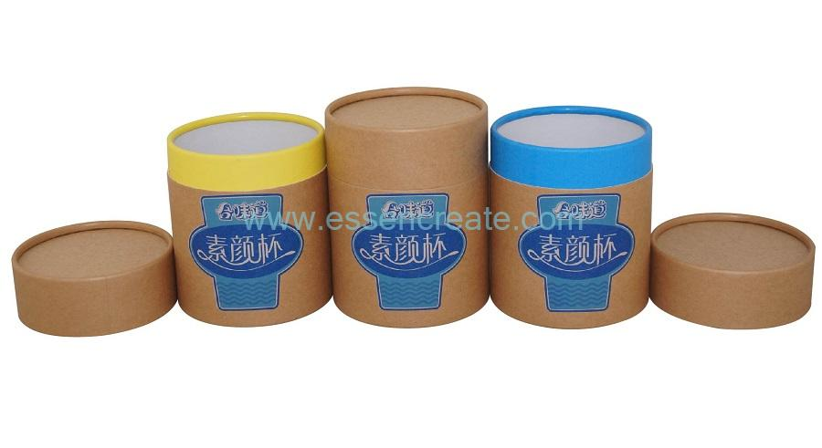 Custom Printed Noodles Paper Packaging Cardboard Cylinder Boxes