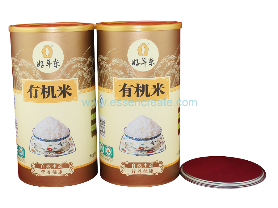 High Quality Composite Organic Rice Paper Packaging Cans