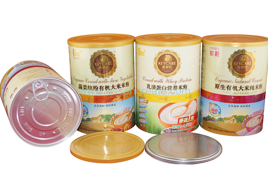 Baby Infant Nutrient Rice Flour Packaging Paper Cans