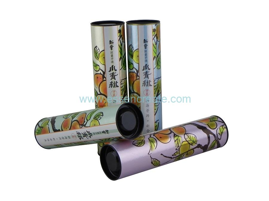 Wholesale Green Orange Tea Ball Packaging Paper Canister