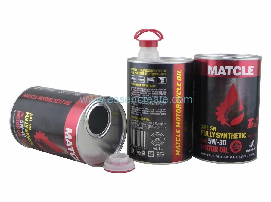 Motor Lubricant Machine Engine Oil Packaging Paper Cans