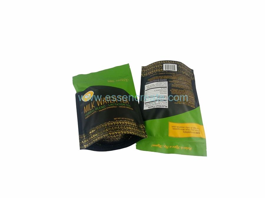 Stand Up Food Packaging Pouch Plastic Bag