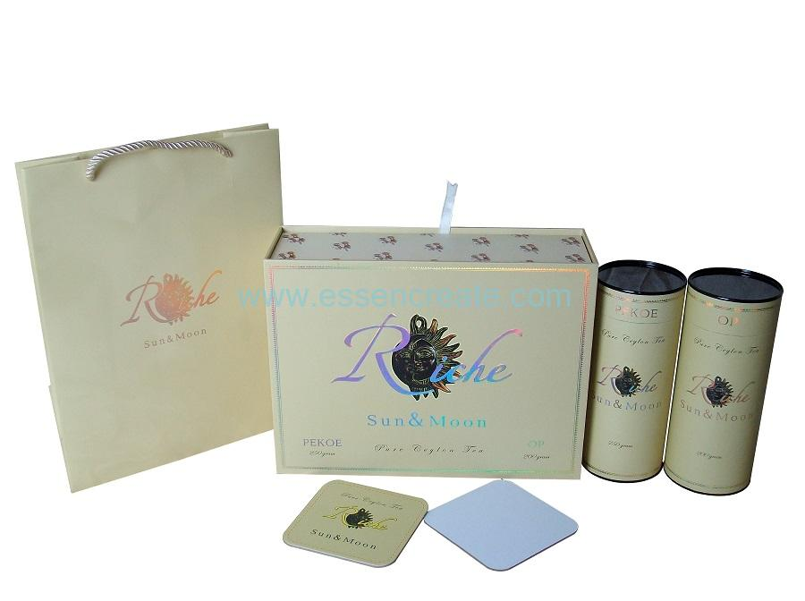 Tea Packaging Paper Tubes with Sliding Drawer Box
