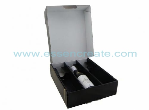 Three Wine Bottle Packaging Foldable Gift Box