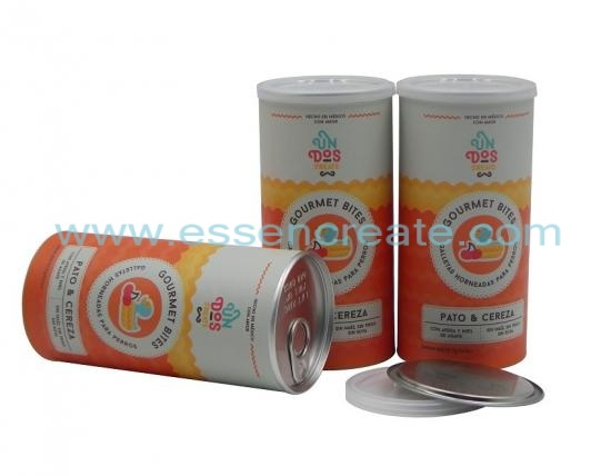 Paper Cardboard Tube Canister for Packaging Pets Food