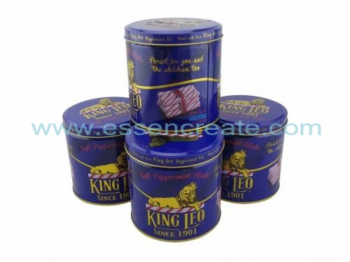 Snack Candy Cookies Biscuit Tin Round Metal Cans