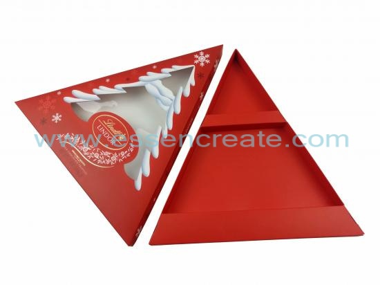 Christmas Chocolate Packaging Triangle Gift Box