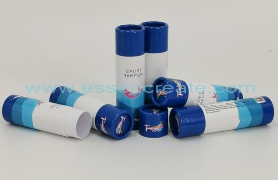 Sport Tampon Packaging Cylinder Tube Box