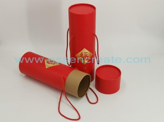 Paper Rolled Edge Tube with Rope Handle