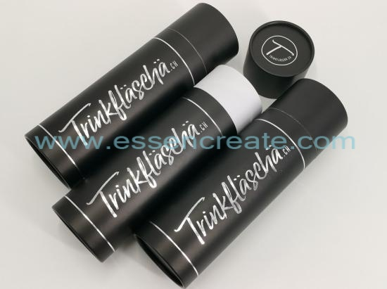 Silver Hot Stamping Cylinder Black Tube