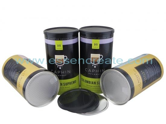 Coffee Packaging Food Grade Paper Tube Can Box