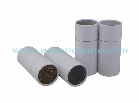 White Paper Tube with window