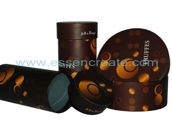 Rolled Edge Chocolate Paper Canister